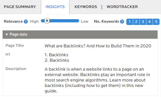 Wordtracker insights