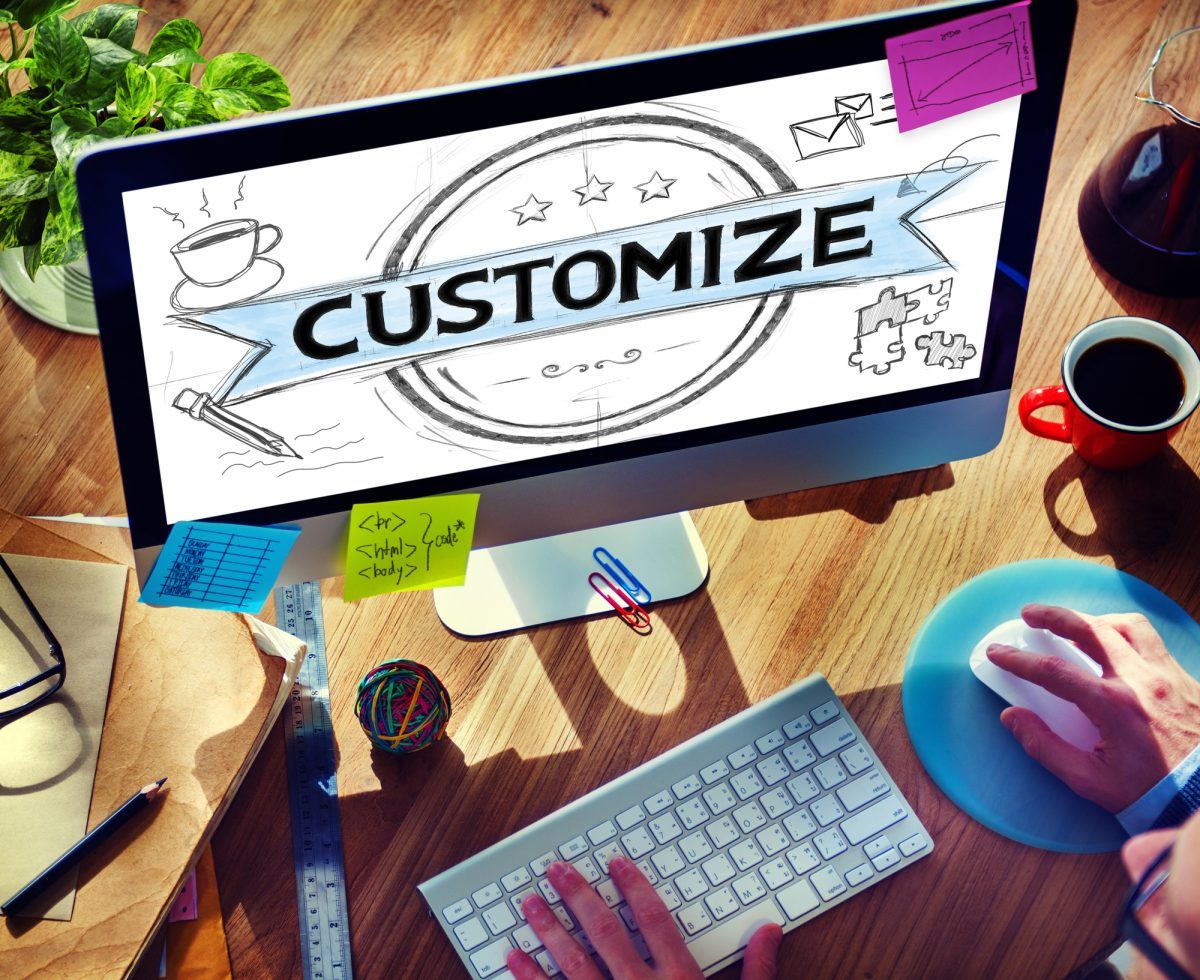 customize footer
