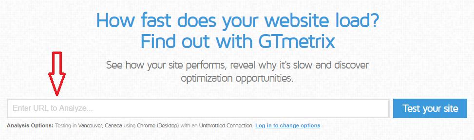 enter your website