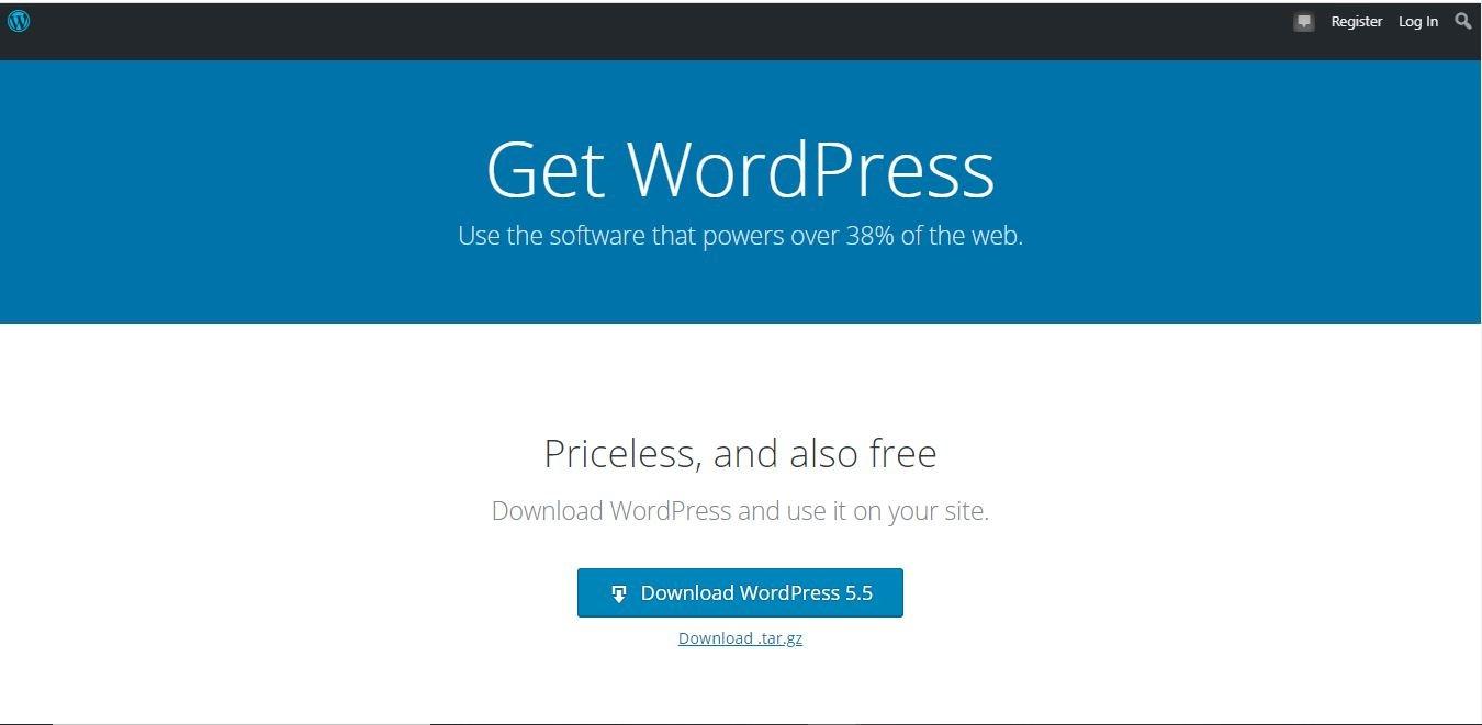 get wordpress