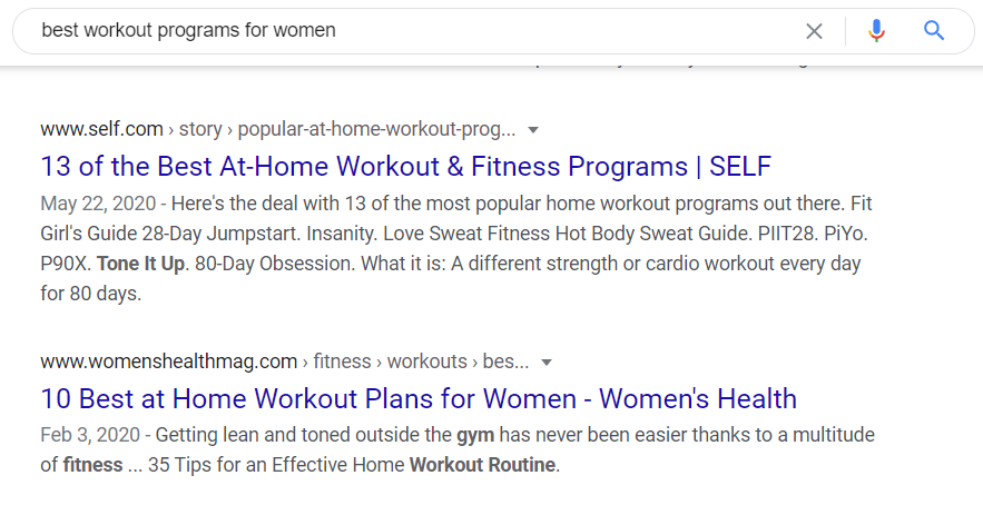 best workout programs for women